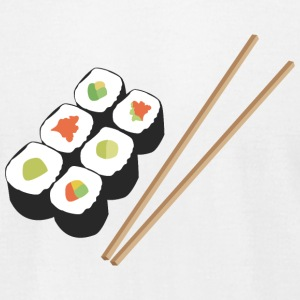 Sushi rolls with chopsticks T-Shirts - Men's T-Shirt by American Apparel