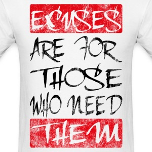excuses black red T-Shirts - Men's T-Shirt