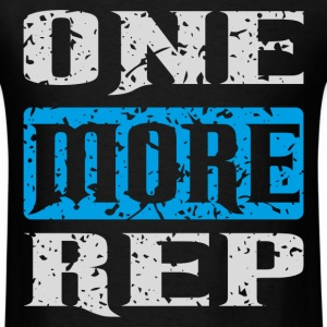 one more rep white blue T-Shirts - Men's T-Shirt