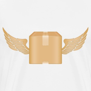 delivery box with wings - Men's Premium T-Shirt
