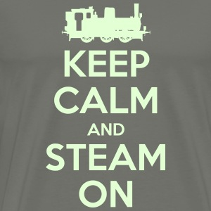 Keep Calm and Steam On #2A Men's 'Glow in the Dark - Men's Premium T-Shirt
