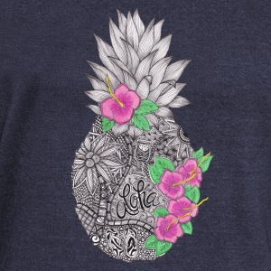 Pineapple zentangle with Flower Long Sleeve Shirts - Women's Wideneck Sweatshirt