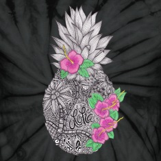 Pineapple zentangle with Flower T-Shirts