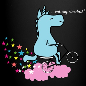 Eat my Stardust Unicorn on Bicycle Clouds & Stars Mugs & Drinkware - Full Color Mug