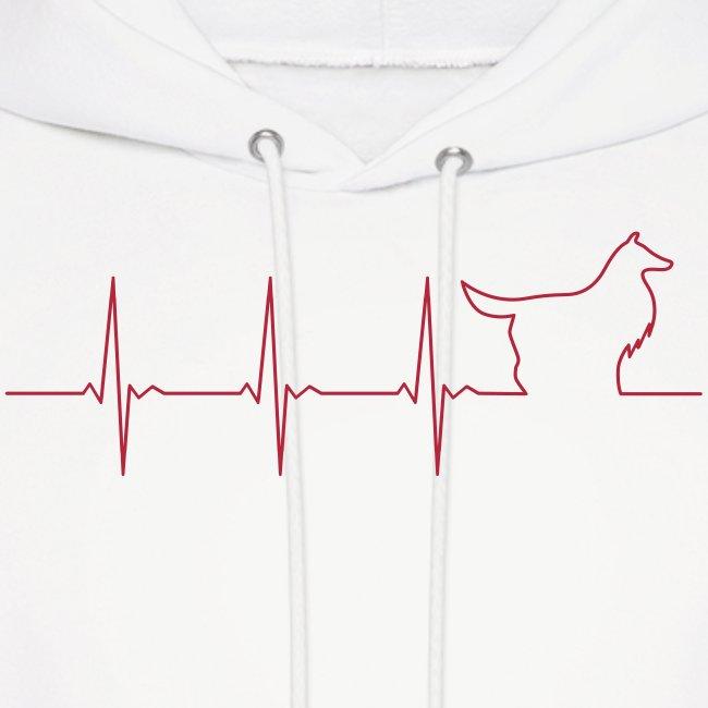 Heart Collie - Mens Hoodie