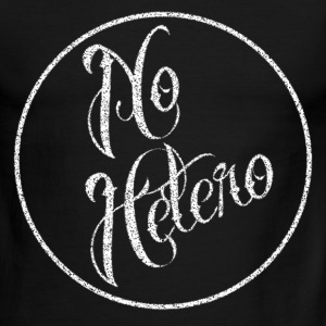 No Hetero White T-Shirts - Men's Ringer T-Shirt