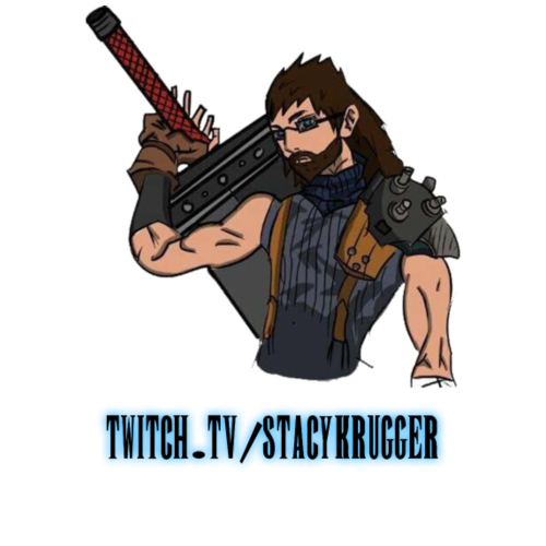 Final Fantasy Fan Art + Twitch (Black)