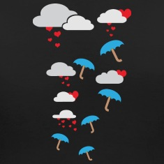 Umbrellas with hearts Women's T-Shirts
