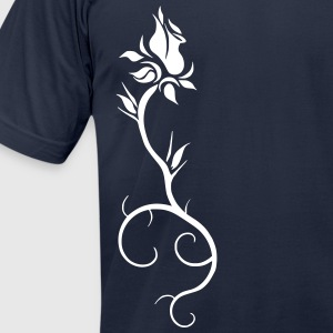 Rooted Rose - Men's T-Shirt by American Apparel
