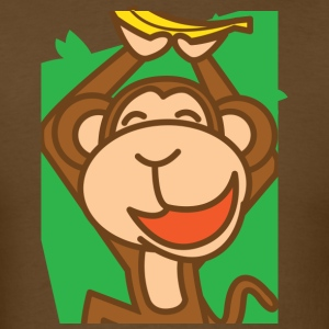Brown joyful monkey - Men's T-Shirt