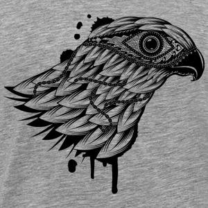 head of a falcon T-Shirts - Men's Premium T-Shirt