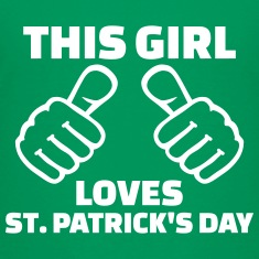 This girl loves St. Patrick's day Kids' Shirts