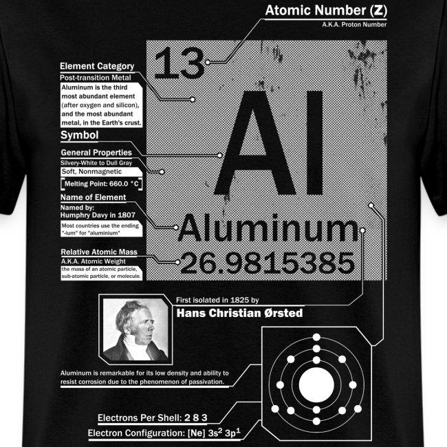 Elements Aluminum Al 13 Element T Shirt Mens T Shirt