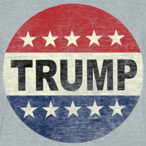 Vintage Vote Trump 2016 Button Shirt - Unisex Tri-Blend T-Shirt by American Apparel