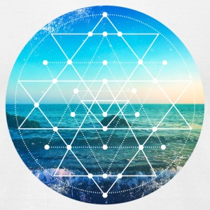 Sacred Geometry Ocean Grunge T-Shirts - Men's T-Shirt by American Apparel