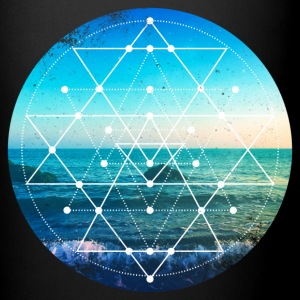 Sacred Geometry Ocean Grunge Mugs & Drinkware - Full Color Mug