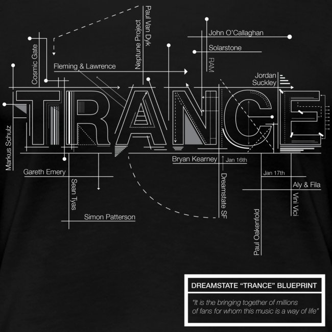 Just trance dreamstate blueprint womens t shirt womens premium dreamstate blueprint womens t shirt malvernweather Image collections