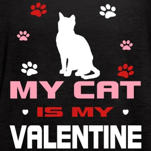 My Cat Is My Valentine Tanks - Women's Flowy Tank Top by Bella