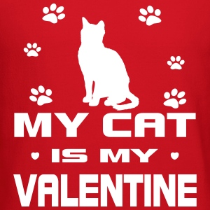 My Cat Is My Valentine Long Sleeve Shirts - Crewneck Sweatshirt