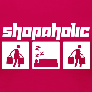 Shopaholic (Vector) - Women's Premium T-Shirt