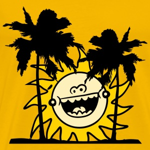 beach sun vacation happy palms recreation celebrat T-Shirts - Men's Premium T-Shirt