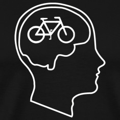 Bikes on the Brain - A shirt for bicycle lovers!