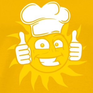 Stars sun eat cooking cook chef chef's hat face gr T-Shirts - Men's Premium T-Shirt