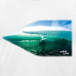 Wave Line 5 T-Shirts - Men's T-Shirt by American Apparel