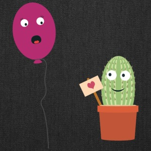 Cactus in love with balloon Bags & backpacks - Tote Bag