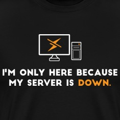 I'm only here because my server is down