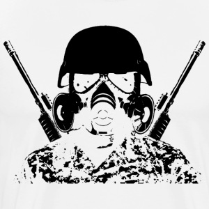 Post-Apocolypse Soldier - Men's Premium T-Shirt