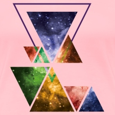 Art Triangle Galaxy Women's T-Shirts