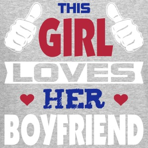 This Girl Loves Boyfriend Long Sleeve Shirts - Crewneck Sweatshirt