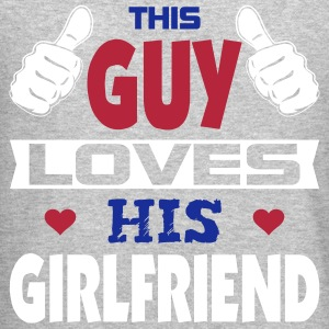 This Guy Loves His Girlfriend Long Sleeve Shirts - Crewneck Sweatshirt