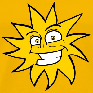 grinning funny comic happy sun face T-Shirts - Men's Premium T-Shirt