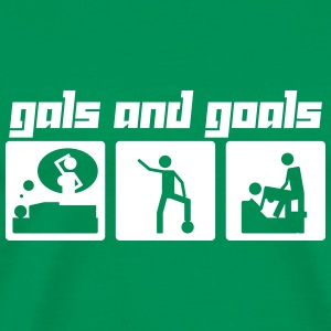 Gals and Goals (Vector) - Men's Premium T-Shirt