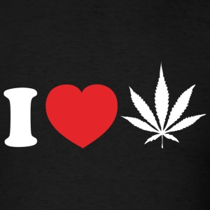I Love Weed - Men's T-Shirt