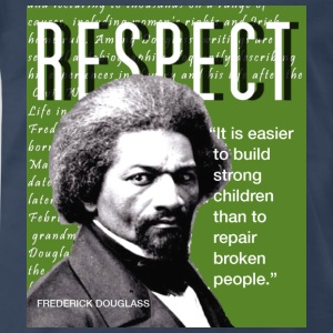 Frederick Douglass RESPECT Quote T-Shirts - Men's Premium T-Shirt