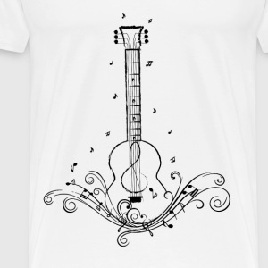 Guitar Music Swirls  - Men's Premium T-Shirt