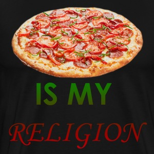 Pizza is my religion - Men's Premium T-Shirt