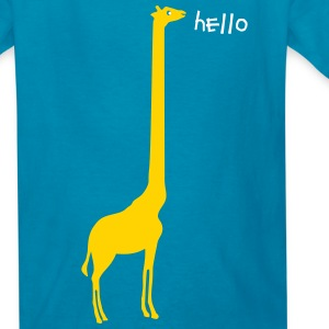 Giraffe_long_neck - Kids' T-Shirt
