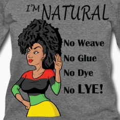 Black Natural Hair Wideneck Sweatshirt