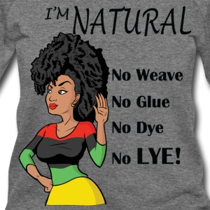 Black Natural Hair Wideneck Sweatshirt - Women's Wideneck Sweatshirt