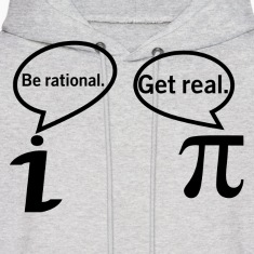 BE RATIONAL-GET REAL Hoodies