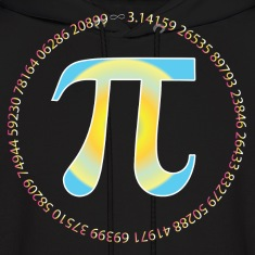 PI CIRCLE WITH NUMBERS Hoodies