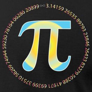 PI CIRCLE WITH NUMBERS T-Shirts - Men's T-Shirt by American Apparel