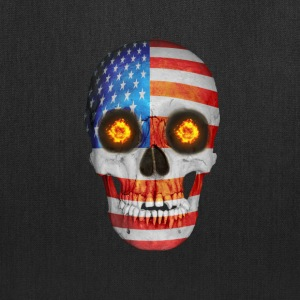 USA FLag Skull Bags & backpacks - Tote Bag