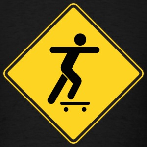 Warning Sign Skateboarding - Men's T-Shirt