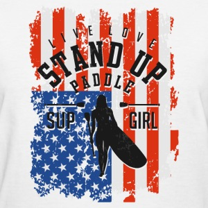 Live Love Stand Up Paddle W - Women's T-Shirt