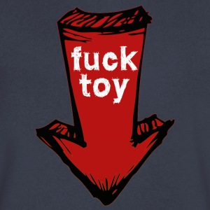 fucktoy T-Shirts - Men's V-Neck T-Shirt by Canvas